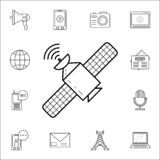 Satelliteicon. Media icons universal set for web and mobile. On white background vector illustration