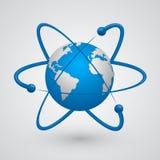 Satelliten um die Erde Stockbilder