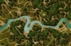 Satellitenansicht-Schnappschuß Stockbild