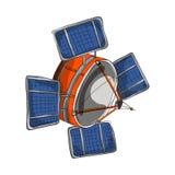Satellitenkarikaturzauntritt Stockfotos