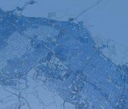 Satellitenkarte von Palo Alto, von Straßen und von Häusern, Kalifornien, Vereinigte Staaten vektor abbildung