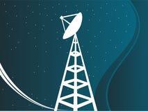 Satellitenkontrollturm Stockfoto