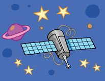 Satellitenraumnetzsterne Lizenzfreies Stockfoto