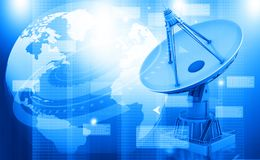 Satellitenschüsselübertragungsdaten Lizenzfreie Stockfotos