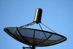 Satellitenschüssel Stockfoto