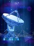 Satellitenschüssel-Antenne - Doppler-Radar, digitale Welle lizenzfreie abbildung
