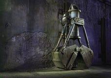 Satellitenschüsselalte Radioteleskope Stockfotos