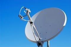 Satellitenschüsselhaus Lizenzfreies Stockbild