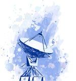 Satellitenschüsselradar lizenzfreie abbildung