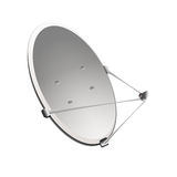 Satellitenschüssel auf einem weißen Hintergrund Lizenzfreie Stockfotografie