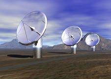 Satellitenschüsseln Lizenzfreies Stockfoto