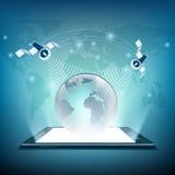 satelliter för illustrationorange för bakgrund ljust materiel Royaltyfri Fotografi