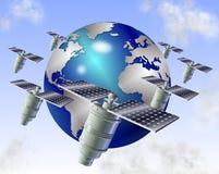 Satellites illustration de vecteur
