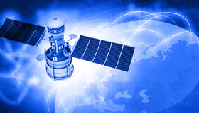 Free Satellites Flying Around Earth Royalty Free Stock Photography - 50806307