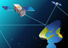 Satellites near Earth Stock Photos