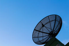 Satellites. Satellite dish against the blue sky Royalty Free Stock Photo