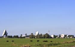 Satelliti di comunicazione olandesi in Burum, Frisia Fotografia Stock Libera da Diritti