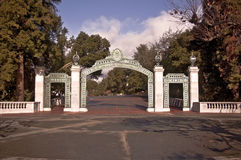 Sather Gate at UC Berkeley. This is a view of the famous landmark Sather Gate at the University of California at Berkeley stock image