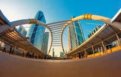 Sathorn bridge Royalty Free Stock Photography