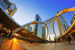 Sathorn bridge Royalty Free Stock Photo