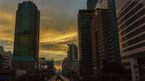 The Sathorn corner, central business of Bangkok Stock Photo