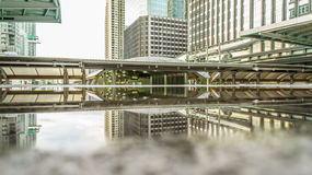 The Sathorn corner, central business of Bangkok Stock Photography