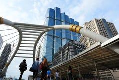 Sathorn föreningspunkt i Bangkok Royaltyfria Bilder