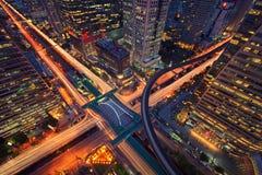 Sathorn Intersection, BTS Chong nonsi, Downtown Bangkok, Thailand. Sathorn Intersection, BTS Chong nonsi, Downtown Bangkok,Thailand Stock Image