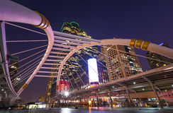 Sathorn junction. Area during rush hour in Bangkok, Thailand Stock Photography