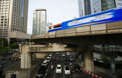 Sathorn junction in Bangkok Royalty Free Stock Image