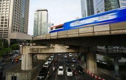 Sathorn-Kreuzung in Bangkok Lizenzfreies Stockbild