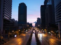Sathorn street at dawn Stock Images