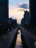 Sathorn street at dawn Royalty Free Stock Images