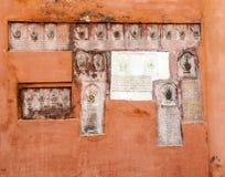 Sati handprints in Rajasthan Stock Image