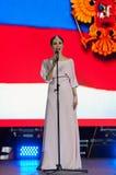 Sati Kazanova śpiewa piosenkę Zdjęcie Stock