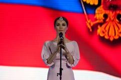 Sati Kazanova canta una canción Foto de archivo libre de regalías