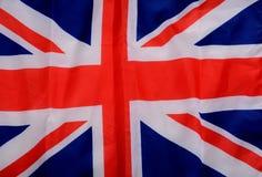 Satijnunie de Achtergrond van Jack United Kingdom Flag Fabric Royalty-vrije Stock Afbeeldingen