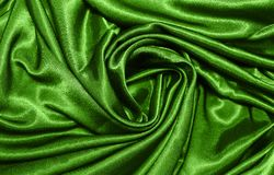 Satin. Smooth green elegant satin background Stock Photo