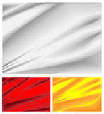 Satin. Three different 3d satin renderings royalty free illustration