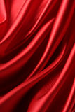 Satin. Red satin is shine for background Stock Photo