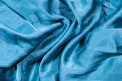 turquoise satin fabric detail Royalty Free Stock Photography