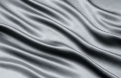 Satin. Black satin shows a very smooth flow Royalty Free Stock Photos