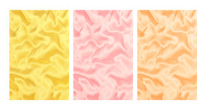 Satin background. 3 different colors of satin background Royalty Free Stock Photo