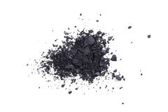 Satin black eyeshadows powder, makeaup and cosmetic background Royalty Free Stock Images
