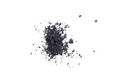 Satin black eyeshadows powder, makeaup and cosmetic background Stock Image