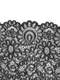 Satin black lace. Royalty Free Stock Photo