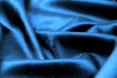 Satin bleu Photographie stock