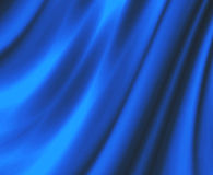 Satin Blue Drapes Fabric Stock Photography