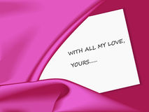 Satin card Stock Image