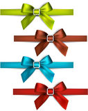 Satin color ribbons. Gift bows. Stock Photography